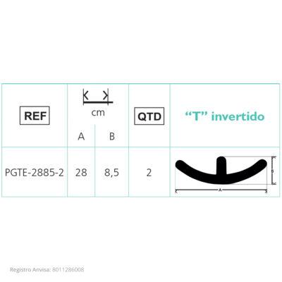 PLACA DE GEL DE SILICONE – Formato de T Invertido